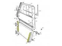 Retainer for weather strip bottom door