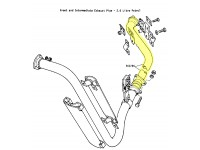 Intermediaire exhaust pipe 2.6L 6 cyl.