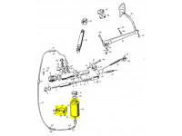 Supply tank assembly for master cylinder 1948-54