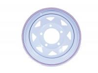Wheel 8 spoke -16x7 - White