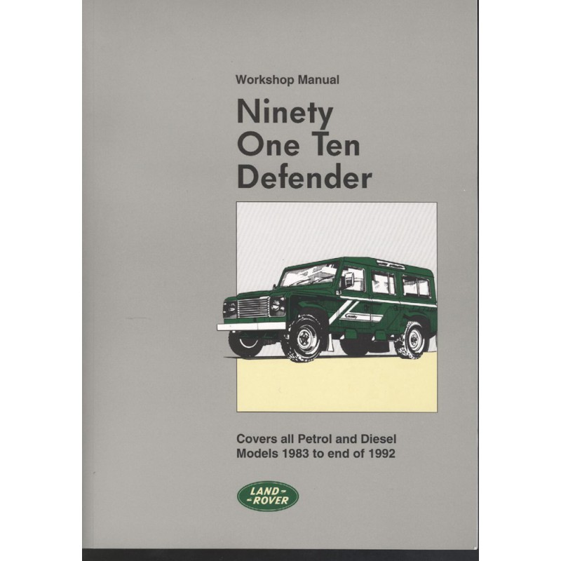 """1999 2004 Land Rover Discovery Ii Service Manual Cd Rom: Workshop Manual Defender 90"""", 110"""" 1983-1992"""