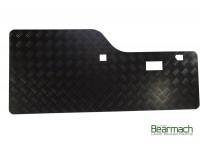 Inner door protector rear - Chequer plate - Black - Disco1