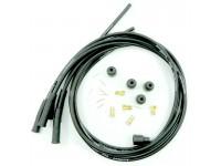 Custom leads set 4 cylinder - black