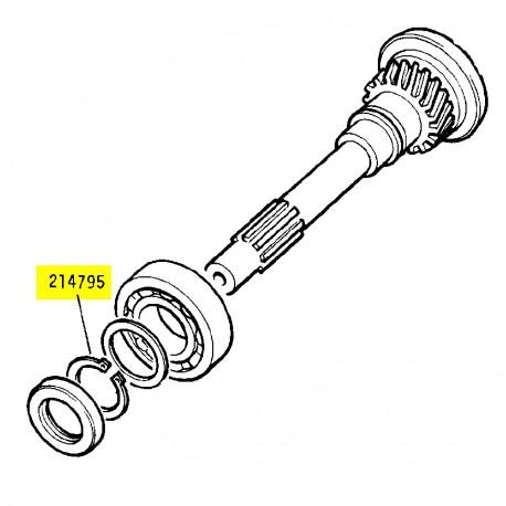 Circlip primary pinion bearing retainer