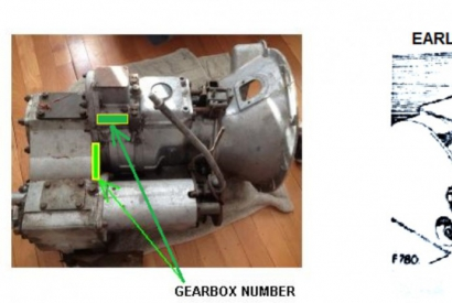 LT76 gearbox number location